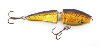 Señuelo amarillo de la pesca Imagen de archivo