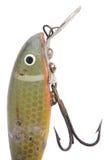 Señuelo antiguo de la pesca Foto de archivo libre de regalías