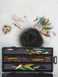 Señuelos de la pesca del hielo Foto de archivo libre de regalías