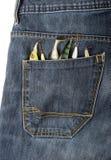 Señuelos en un bolsillo Fotos de archivo libres de regalías