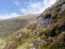 Se österut från kanten av Eagle Crag arkivbild