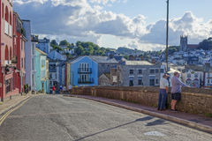 Se över hamnhamnen Brixham Torbay Devon Endland UK Royaltyfria Bilder