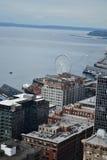 Se över Puget Sound från Smith Tower observationsdäck, Seattle, Washington Royaltyfri Bild