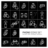 SE τηλεφωνικών εικονιδίων Στοκ Εικόνα
