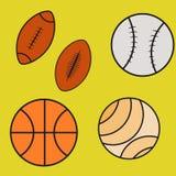 Se значков шарика спорта иллюстрация вектора