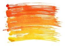 Se aíslan los movimientos coloridos del cepillo de la acuarela Imágenes de archivo libres de regalías