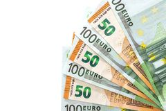 se aíslan 50 y 100 euros Imágenes de archivo libres de regalías