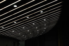 Se alineó las luces Imagen de archivo libre de regalías