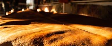 Se aprecia el cuero recientemente bronceado, la aspereza y la textura fotografía de archivo