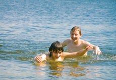 Se baigner Photo libre de droits