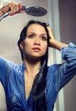 Se baigner de femme Photographie stock libre de droits
