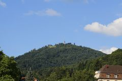 Se berget Mercury i Baden-Baden Royaltyfri Bild