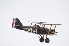 SE5A Biplane in flight Stock Photo