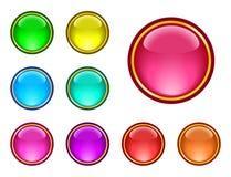 se boutonne vitreux illustration de vecteur