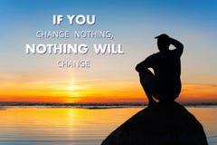 Se cambiate niente-niente il cambiamento-suo vostro choise Immagine Stock