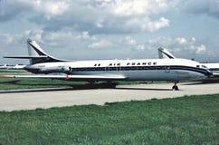 Se 210 Caravelle III F-BHRY de lessive d'Air France entre les vols à Paris, aéroport d'Orlay Photo libre de droits