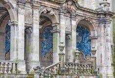 Se catedral, Porto cathedral. Portugal. Portico of the Porto cathedral, Se catedral is the current bishopric seat of Porto, Portugal Stock Image