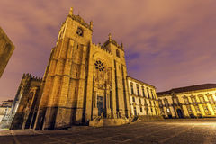 Se Cathedral and Bishop's Palace in Porto. Porto, Norte, Portugal Stock Photo