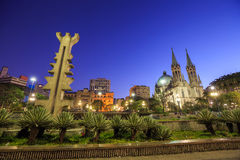 Se Cathedral in downtown Sao Paulo Brazil Stock Image