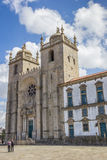 Se cathedral in the historical center of Porto. Portugal Stock Images