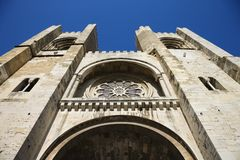 Se Cathedral in Lisbon, Portugal. Royalty Free Stock Image