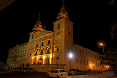 Se Cathedral at Night Sao Luis do Maranhao Royalty Free Stock Images