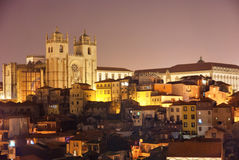 Se, Cathedral of Porto. At night, Portugal Royalty Free Stock Photos