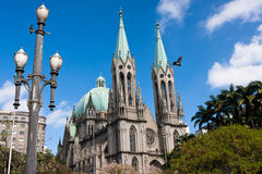Se Cathedral. Sao Paulo - Brazil Royalty Free Stock Photo