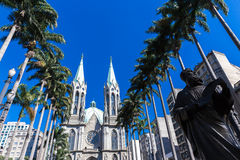 Se Cathedral in Sao Paulo, Brazil Stock Image
