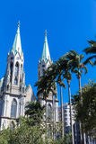 Se Cathedral in Sao Paulo, Brazil Stock Photography