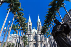 Se Cathedral in Sao Paulo, Brazil Royalty Free Stock Image