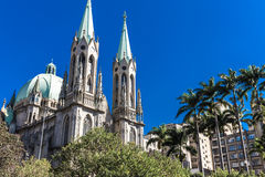 Se Cathedral in Sao Paulo, Brazil Royalty Free Stock Photos