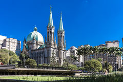 Se Cathedral in Sao Paulo, Brazil Stock Photo