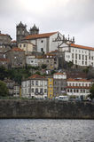 Se Cathedral view from river. Se Cathedral view from the river douro. Porto, Portugal Royalty Free Stock Photography