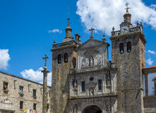 Se Cathedral of Viseu. Portugal. Viseu, Portugal - June 25, 2016. Principal facade of Se Cathedral of Viseu, is the current bishopric seat of Viseu, Portugal Royalty Free Stock Photography