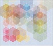 Se composer abstrait de fond beige, hexagones blancs et roses Illustration de vecteur illustration stock