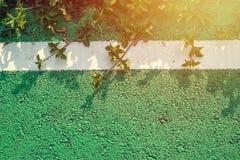 Se connecte la route avec la lumière du soleil Photos stock