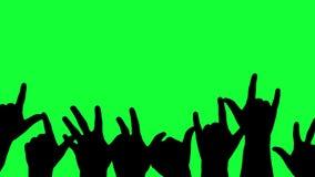 Se déplaçant, silhouettes encourageantes des mains illustration de vecteur