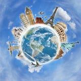 Se déplacent le concept de monument du monde Image stock