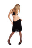 Se déshabiller modèle de sous-vêtements sexy Photos libres de droits