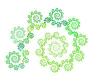 Se développent en spirales la fractale florale illustration stock