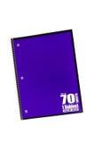 Se développent en spirales le cahier d'école Photo stock