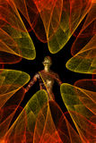 Se développent en spirales le chiffre de fractale Images libres de droits