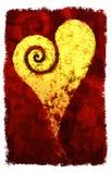 Se développent en spirales le coeur Image stock