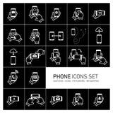 Se d'icône de téléphone Image stock