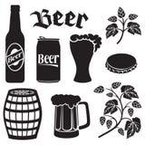 Se d'icônes de bière illustration libre de droits