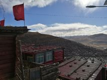 Se Da Buddhist Monastery and School in Sichuan Province, China. Royalty Free Stock Images