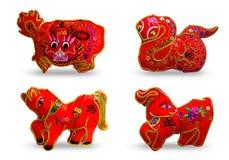 Se 4 de couleur rouge douze zodiaques Photo stock