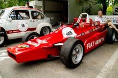 SE 033 de Fiat Abarth en la bandera 2017 de la plata de Vernasca Foto de archivo libre de regalías
