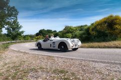 SE 1953 DE JAGUAR XK 120 OTS photo libre de droits